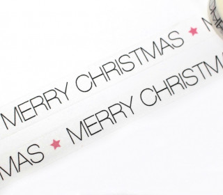 1 Rolle Masking Tape - Merry Christmas - Sternchen
