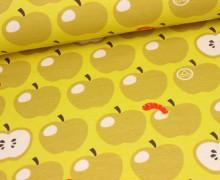 Jersey - Äpfel mit Wurm - Gelb - Nancy Kers