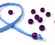 10 Kunststoffperlen - Durchzug 11x14mm - Violett