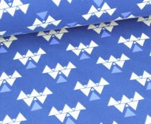 Jersey - Eclectic Affairs -Dreiecke - Welle - Blau
