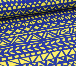 Canvas - Rough Cut - Geometrie - KOKKA - Royalblau
