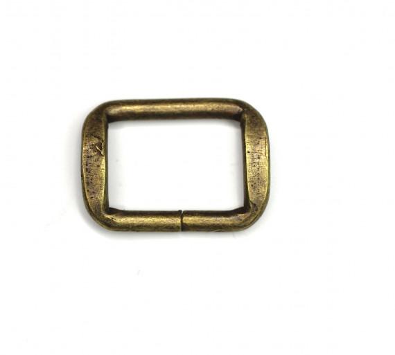 10 D-Ringe 30mm messing Taschenringe Halbringe offen