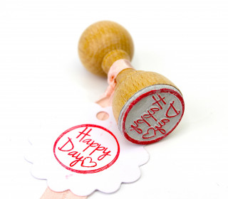 Stempel - Happy Day - Holzstempel