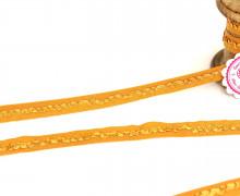 1m elastisches Band - Rüsche - 16mm - Ocker