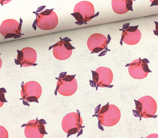 Stoff - Peaches-Fruit Dots-Melody Miller-Natur
