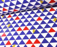 Canvas - Bären - Dreiecke - KOKKA - Rot/Dkl.Blau