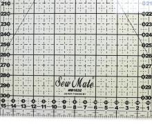 Patchworklineal 16cm x 32cm - Schwarz -Anti-Rutsch