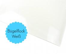 A4 Bügelflock - Bügelfolie - Weiß (Mengeneinheit: 1piece)