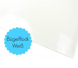 A4 Bügelflock - Bügelfolie - Weiß