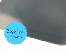 A4 Bügelflock - Bügelfolie - Schwarz (Mengeneinheit: 1piece)