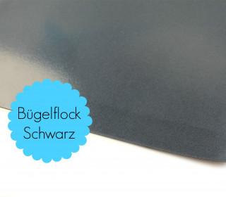 A4 Bügelflock - Bügelfolie - Schwarz