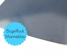 A4 Bügelflock - Bügelfolie - Marineblau