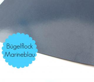 A4 Bügelflock - Bügelfolie - Marineblau (Mengeneinheit: 1piece)
