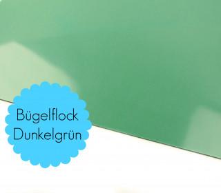 A4 Bügelflock - Bügelfolie - Dunkelgrün