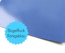 A4 Bügelflock - Bügelfolie - Königsblau