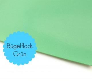 A4 Bügelflock - Bügelfolie - Grün