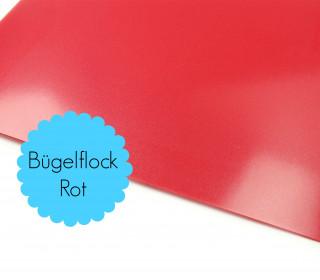 A4 Bügelflock - Bügelfolie - Rot