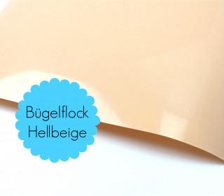 A4 Bügelflock - Bügelfolie - Hellbeige