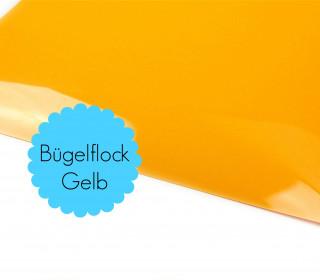 A4 Bügelflock - Bügelfolie - Gelb