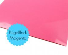 A4 Bügelflock - Bügelfolie - Magenta
