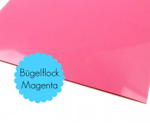 A4 Bügelflock - Bügelfolie - Magenta (Mengeneinheit: 1piece)