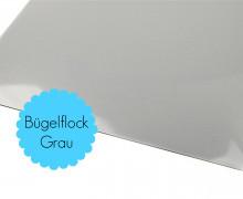 A4 Bügelflock - Bügelfolie - Grau (Mengeneinheit: 1piece)
