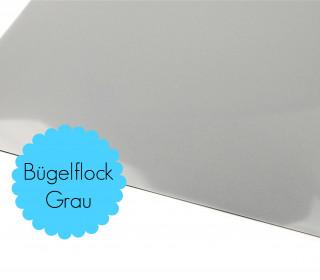 A4 Bügelflock - Bügelfolie - Grau