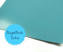 A4 Bügelflock - Bügelfolie - Türkis