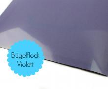 A4 Bügelflock - Bügelfolie - Violett (Mengeneinheit: 1piece)