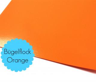A4 Bügelflock - Bügelfolie - Orange