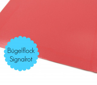 A4 Bügelflock - Bügelfolie - Signalrot