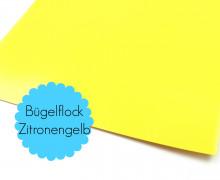A4 Bügelflock - Bügelfolie - Zitronengelb