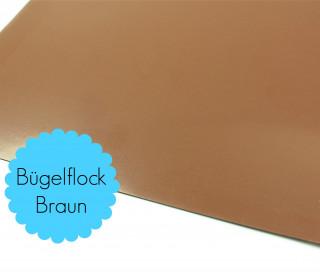 A4 Bügelflock - Bügelfolie - Braun