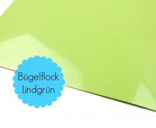 A4 Bügelflock - Bügelfolie - Lindgrün