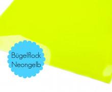 A4 Neon Bügelflock - Bügelfolie - Neongelb