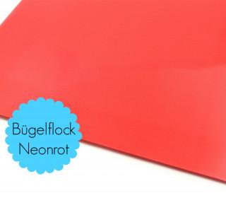 A4 Neon Bügelflock - Bügelfolie - Neonrot