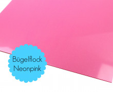 A4 Neon Bügelflock - Bügelfolie - Neonpink (Mengeneinheit: 1piece)