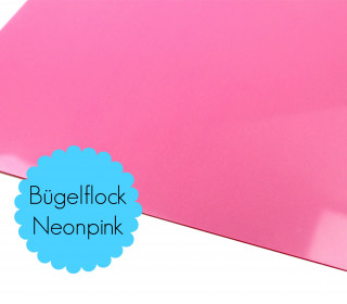A4 Neon Bügelflock - Bügelfolie - Neonpink