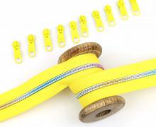 2m Endlosreißverschluss *B*+10 Zipper - Gelb/Regenbogen Farbverlauf (110)