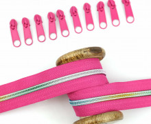 2m Endlosreißverschluss *B*+10 Zipper - Pink/Regenbogen Farbverlauf (146)