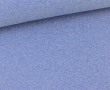 Glattes Bündchen - Schlauch - Hellblau Meliert