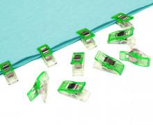 10 Stoffklammern - Quilt Clips - Klein - Neongrün