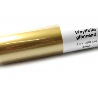 Glänzende Vinylfolie - 30,5x300cm - Gold