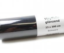 Glänzende Vinylfolie - 23x300cm - Schwarz