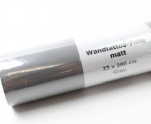 Wandtattoo Folie - Matt - 23x300cm - Grau