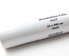 Wandtattoo Folie - Matt - 23x300cm - Weiß