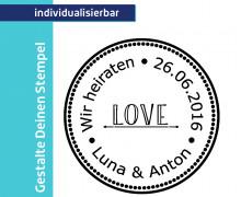 Gestalte Deinen Stempel - Love - Wir heiraten (Mengeneinheit: 1Stück)