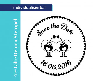 Gestalte Deinen Stempel - Cherry  - Save the Date
