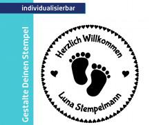 Gestalte Deinen Stempel - Fußabdruck  - Willkommen  (Mengeneinheit: 1Stück)