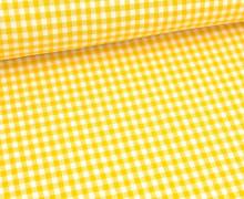 Vichy Stoff - Mittlere Karos - 4mm x 5mm - Gelb
